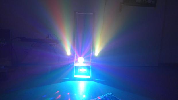 Einen Ufo-Lichteffekt (höhenverstellbar) selbst bauen.